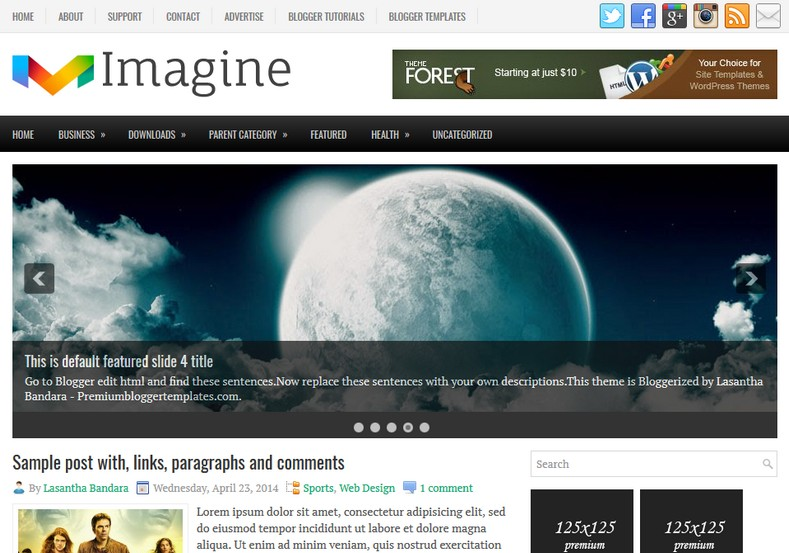 Imagine Green Blogger Template. Blogger Themes. Free Blogspot templates for your blogger blog. Best suitable for news blog templates. Ads ready blogspot templates help for add adsense ad code and easily showing adsence ads in your blog. Adapted from WordPress templates are converted from WordPress themes. It is help for take your rich. Blogger magazine template specially designed for magazine blogs. The writers can utilize this themes for take blog attractive to users. Elegant themes are more used themes in most of the blogs. Use minimalist blog templates for rich look for your blog. Free premium blogger themes means, themes authors release two types of themes. One is premium another one is free. Premium templates given for cost but free themes given for no cost. You no need pay From California, USA. $10 USD, or $20 USD and more. But premium buyers get more facilities from authors But free buyers. If you run game or other animation oriented blogs, and you can try with Anime blog templates. Today the world is fashion world. So girls involve to the criteria for make their life fashionable. So we provide fashion blogger themes for make your fashionable. News is most important concept of the world. Download news blogger templates for publishing online news. You can make your blog as online shopping store. Get Online shopping store blogger template to sell your product. Navigation is most important to users find correct place. Download drop down menu, page navigation menu, breadcrumb navigation menu and vertical dropdown menu blogspot themes for free. Google Guide to blogging tips and tricks for bloggers. Google bloggers can get blogspot trick and tips for bloggers. Blog templates portfolio professional blogspot themes, You can store your life moments with your blogs with personal pages templates. Video and movie blogs owners get amazing movie blog themes for their blogs. Business templates download. We publish blogger themes for photographers. Photographers easily share photos via photography blog themes. St valentine Christmas Halloween templates. Download Slideshow slider templates for free. Under construction coming soon custom blogspot template. Best beautiful high quality Custom layouts Blog templates from templateism, soratemplates, templatetrackers, simple, cute free premium professional unique designs blog themes blogspot themes. Seo ready portfolio anime fashion movie movies health custom layouts best download blogspot themes simple cute free premium professional unique designs xml html code html5.