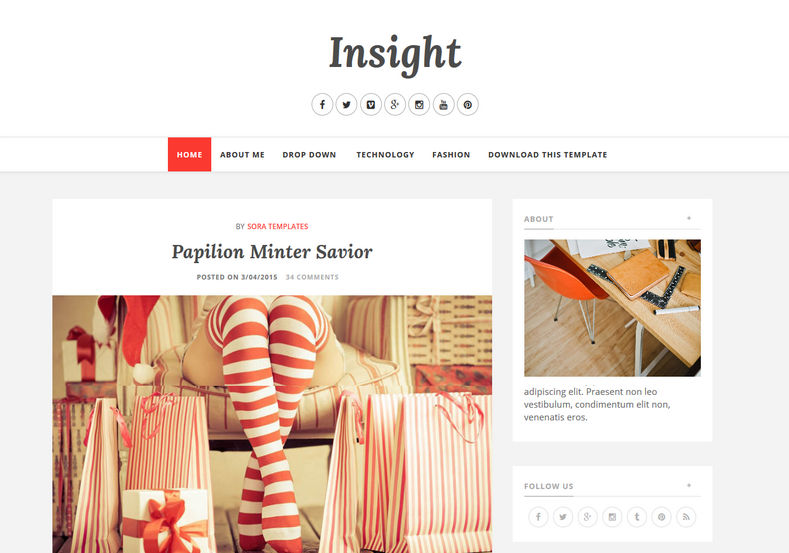 Insight Blogger Template