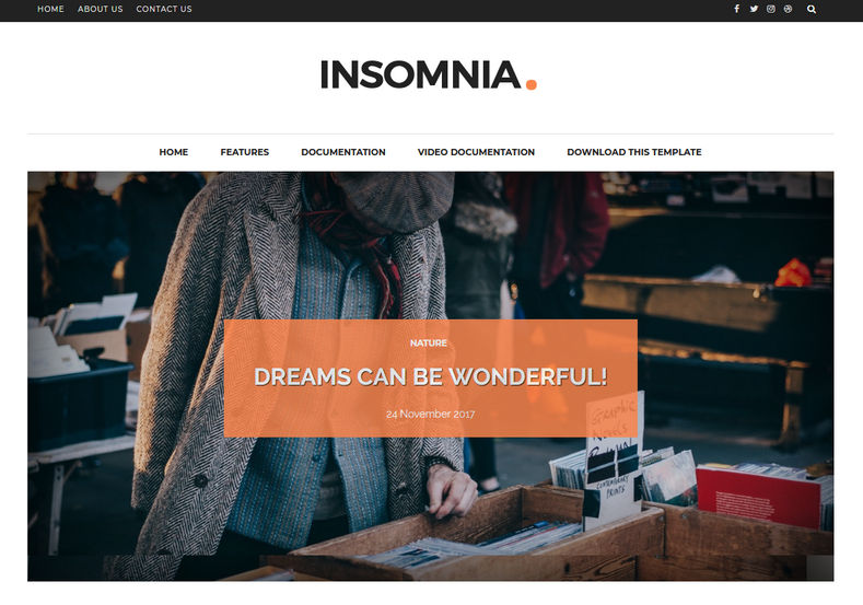 Insomnia Blogger Template is a clean, simple, minimal blogspot theme with fully responsive features, specially for fashion and ladis bloggers