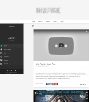 Inspire Responsive Blogger Templates