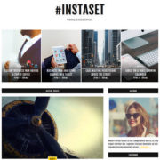 Instaset Fashion Blogger Templates