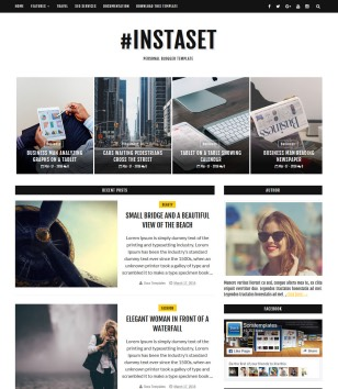 Instaset List Blogger Templates