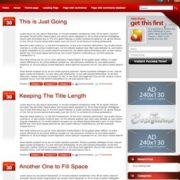Intrepidity Red Blogger Templates
