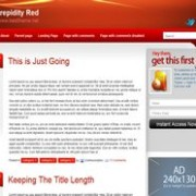Intrepidity Red blogger template