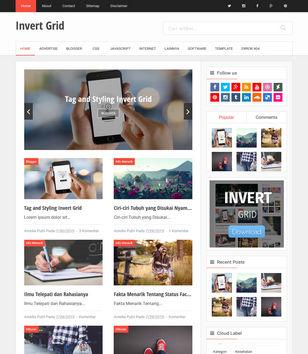 Invert Grid Blogger Template Blogspot Templates 2019