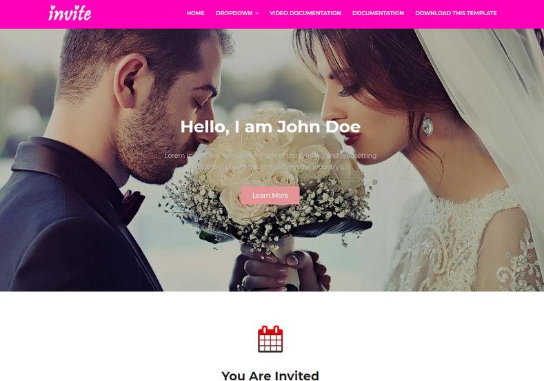Invite Blogger Template is a very stylish looking marriage and pre wedding invitation based blogspot theme with clean, simple, minimal and elegant appearance.