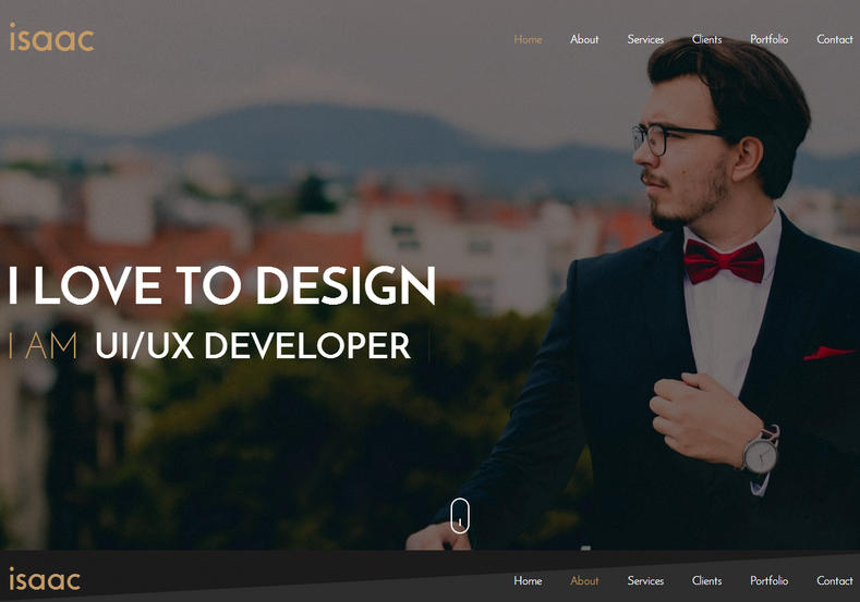 Isaac Landing Page Blogger Template is a great looking personal portfolio responsive blogger theme