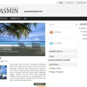 Jasmin blogger template
