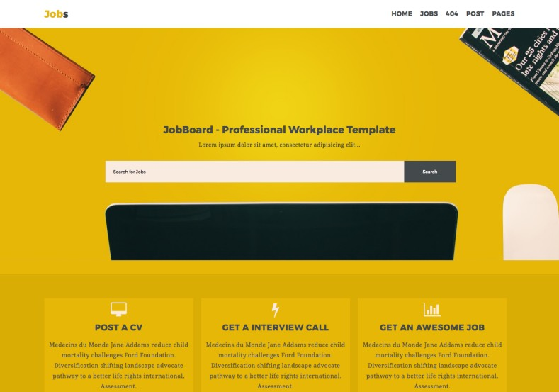 jobs template for blogger  Jobs Business Blogger Template • Blogspot Templates 2018