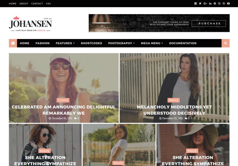 Johansen Blogger Template. Template that has new look and giving to best and magazine look for blogspot blog. Bloggers cat get new experience with this template and users too. Johansen Blogger Template.