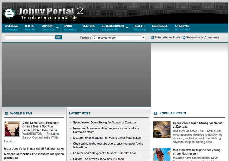 Johny Portal 2 blogger template free download