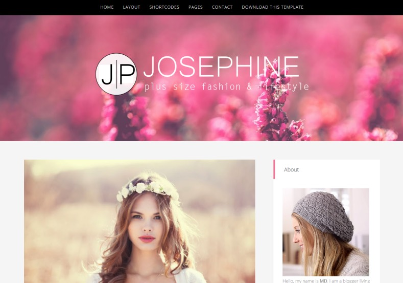 JosePhine Blogger Template. Free blogger templates 2015. best free themes