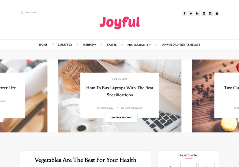 JoyFul Fashion Blogger Template. Blogger blogspot theme designed for design your blogger blog for ability to get next rich level blogging habits. Download best JoyFul Fashion Blogger Template
