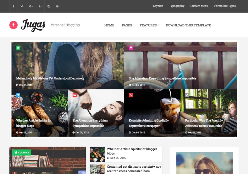 Jugas Blogger Template
