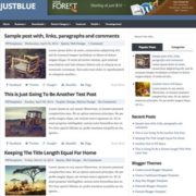 JustBlue Responsive Blogger Templates