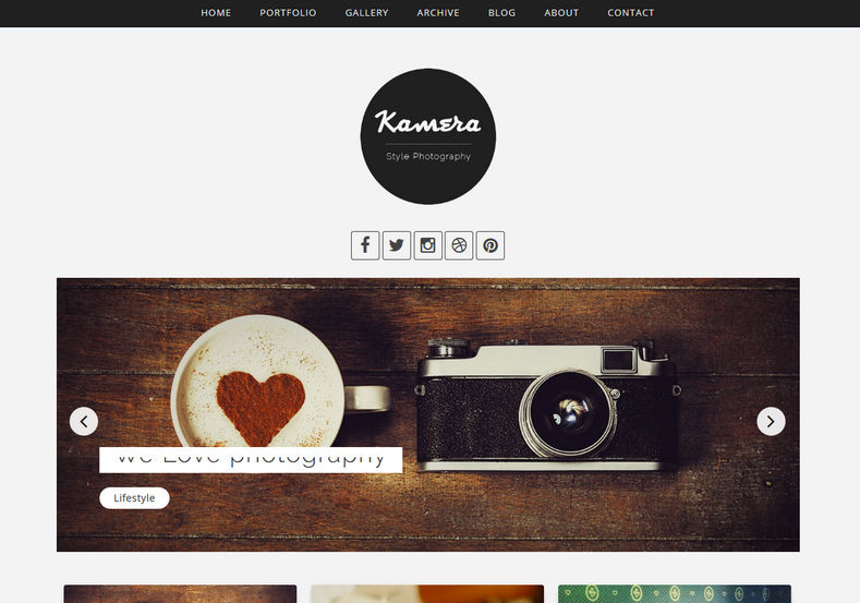 Kamera Blogger Template photography blogger templates 2018 for photographers and travelers Kamera Blogger Template