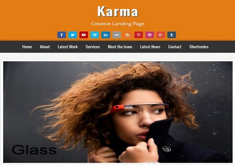 Karma Creative Landing Page Blogger Template 2014 Free Download
