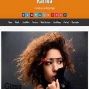 Karma Creative Landing Page Blogger Templates