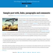 Kichu Blogger Templates
