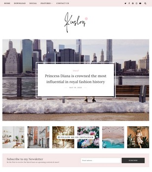 Kinsley Blogger Templates