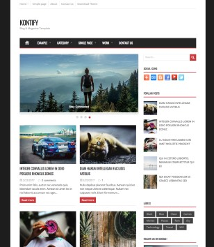 Kontify Blogger Templates
