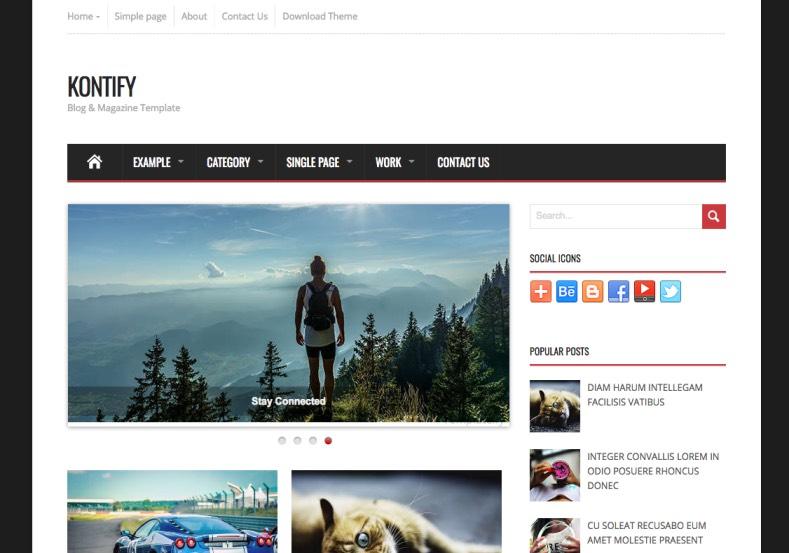 Kontify Blogger Template premium blogger template