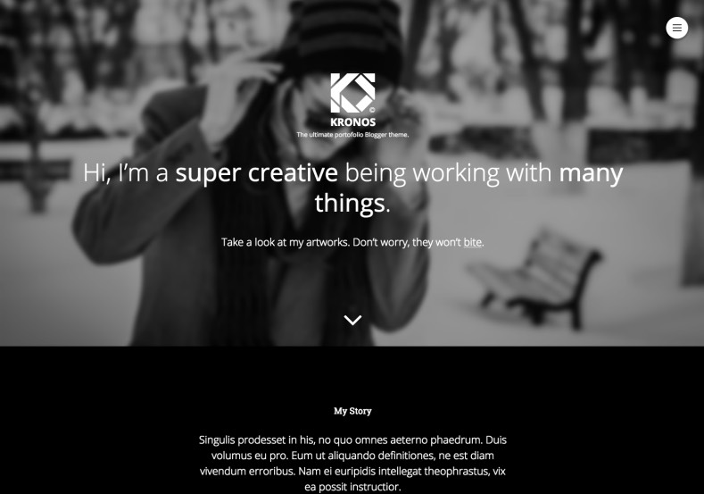 Kronosmond Blogger Template Blogspot Templates - Blogger photography templates professional