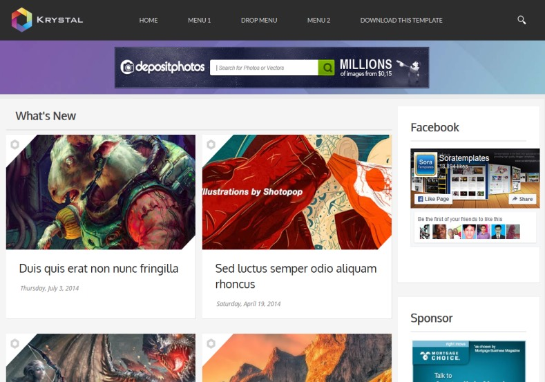 Krystal Gallery Responsive Blogger Template. Blogger Themes. Best suitable for news blog templates. Ads ready blogspot templates help for add adsense ad code and easily showing adsence ads in your blog. Adapted from WordPress templates are converted from WordPress themes. It is help for take your rich. Blogger magazine template specially designed for magazine blogs. The writers can utilize this themes for take blog attractive to users. Elegant themes are more used themes in most of the blogs. Minimalist blog templates. Free premium blogger themes means, themes authors release two types of themes. One is premium another one is free. Premium templates given for cost but free themes given for no cost. You no need pay From California, USA. $10 USD, or $20 USD and more. But premium buyers get more facilities from authors But free buyers. If you run game or other animation oriented blogs, and you can try with Anime blog templates. Today the world is fashion world. So girls involve to the criteria for make their life fashionable. So we provide fashion blogger themes for make your fashionable. News is most important concept of the world. Download news blogger templates for publishing online news. You can make your blog as online shopping store. Get Online shopping store blogger template to sell your product. Navigation is most important to users find correct place. Download drop down menu, page navigation menu, breadcrumb navigation menu and vertical dropdown menu blogspot themes for free. Google Guide. Blogging tips and Tricks for bloggers. Google bloggers can get blogspot trick and tips for bloggers. Blog templates portfolio professional blogspot themes, You can store your life moments with your blogs with personal pages templates. Video and movie blogs owners get amazing movie blog themes for their blogs. Business templates download. We publish blogger themes for photographers. Photographers easily share photos via photography blog themes. St valentine Christmas Hallowee