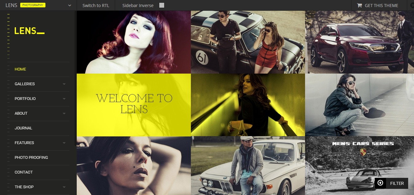 LENS - An Enjoyable Photography WordPress Theme