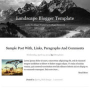 Landscape Responsive Blogger Templates