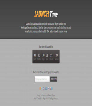 Launch Time Responsive Blogger Templates