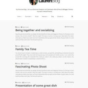 Lauren Blog Blogger Templates