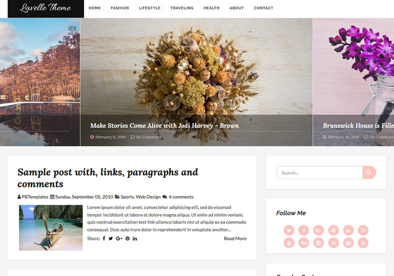 Lavelle Blogger Template is a clean and simple looking feminine minimalistic blogger theme specially for fashion lovers