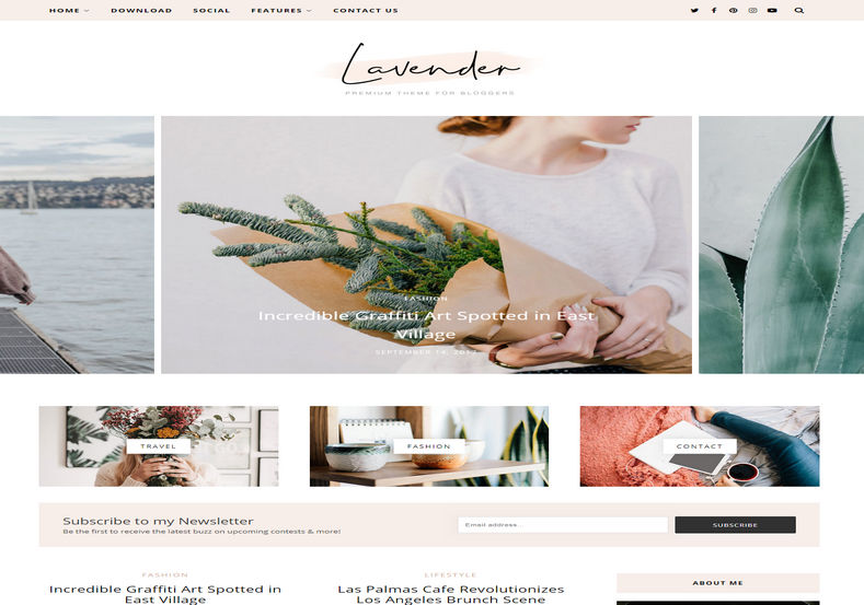 Lavender Blogger Template is a cool and stylish elegant looking blogspot theme with minimal and elegant personal layout and feminine look