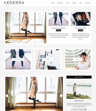 Legenda Fashion Blogger Templates