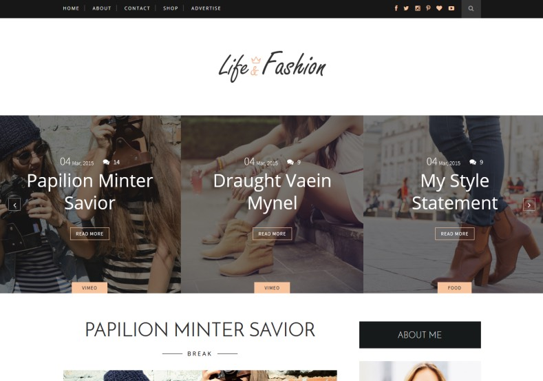 Life Fashion Blogger Template. Download latest blogspot themes. Awesome and eye catching themes for free. Life Fashion Blogger Template.