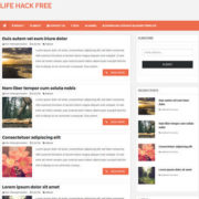 Life Hack Responsive Blogger Templates