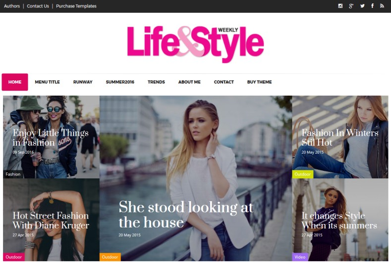 Life and Style Blogger Template. Blogger templates 2017 and specially created for girls for blog about fashion and fashion product and those life style in any criteria. Life and Style Blogger Template.