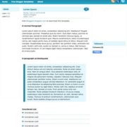 Light Blue Blogger Templates