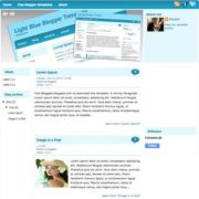 Light Blue V2 Blogger Templates