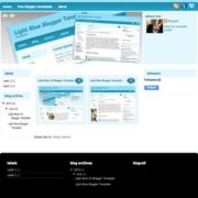 Light Blue V3 Blogger Templates