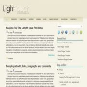 Light Touch Blogger Templates