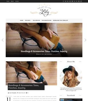 Lily Fashion Blogger Templates
