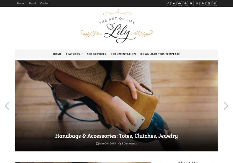 Lily Fashion Blogger Template is a fashion oriented multi niche theme spcially made for ladies - female users