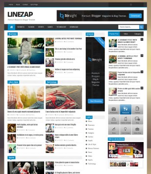 Linezap Responsive Blogger Templates