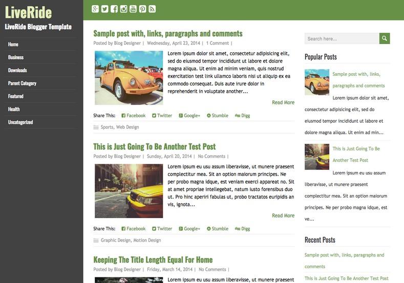 LiveRide Simple Blogger Template. Blogger templates 2015. Free blogger templates. blogspot themes