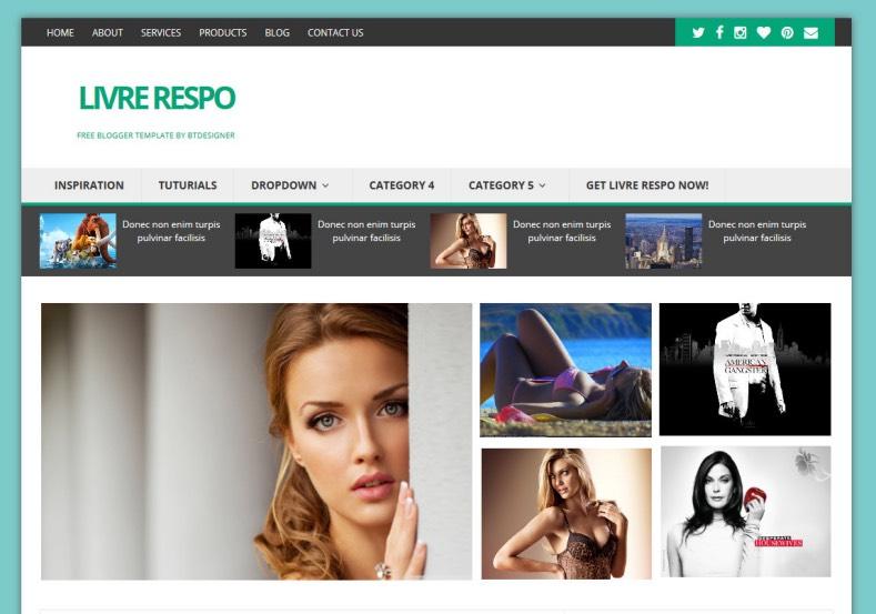 Livre Respo Blogger Template. free blogger templates 2015