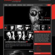 London Creative Red Blogger Templates