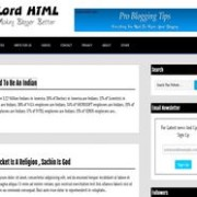 Lord HTML Blogger Template