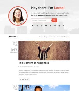 Loreo SEO Blogger Template